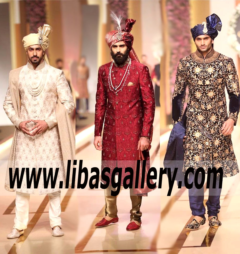 Ahsan`s Menswear Groom Collection at QMobile HUM Bridal Couture Week 2017