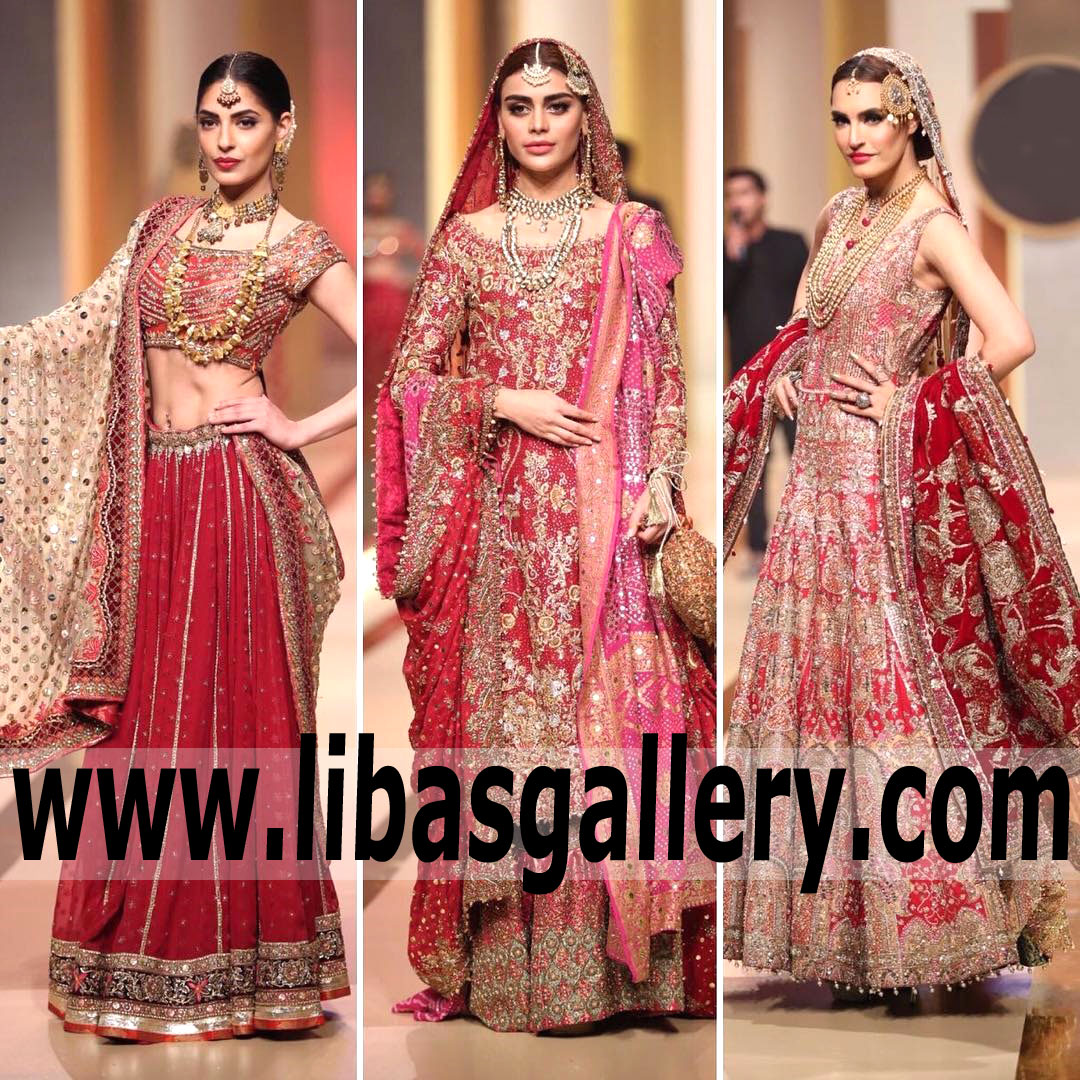 QMobile HUM Bridal Couture Week 2017 Designers Bridal collections Online Shopping