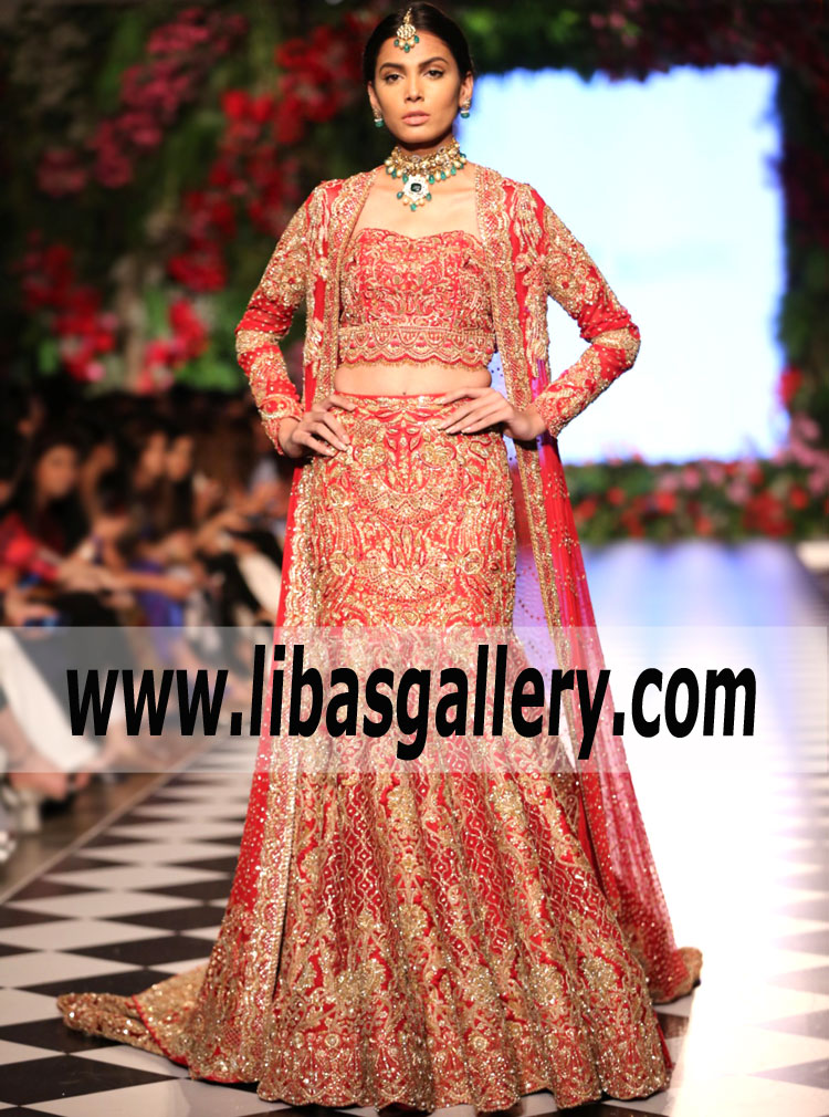 6e5682f4ee Gorgeous Pakistani Brides to get the first look Faraz Manan Al Hambra  Collection at the PFDC L`Oreal Paris Bridal Week