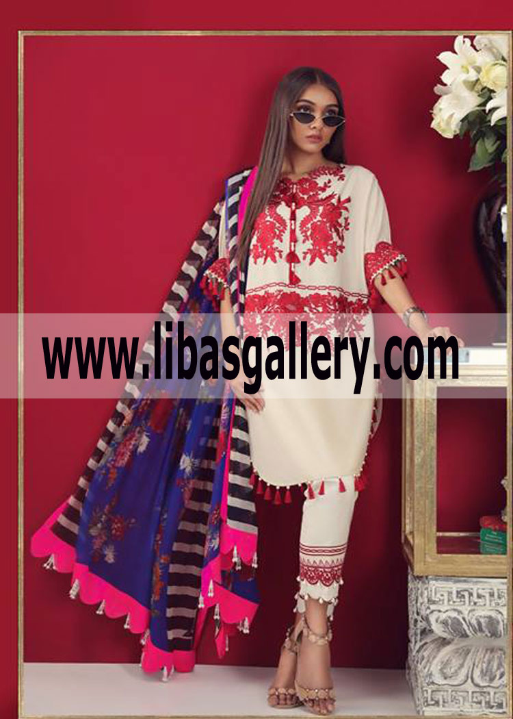 a5df795134 Embroidered shirt lawn Dyed Cotton shalwar Muzlin lawn Collection ...