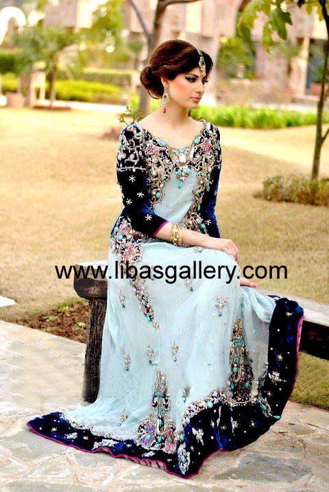 Buy Pakistani Anarkali Suits Pishwas Dresses Loose Silhouette Bridal Design Occasions Wedding Party