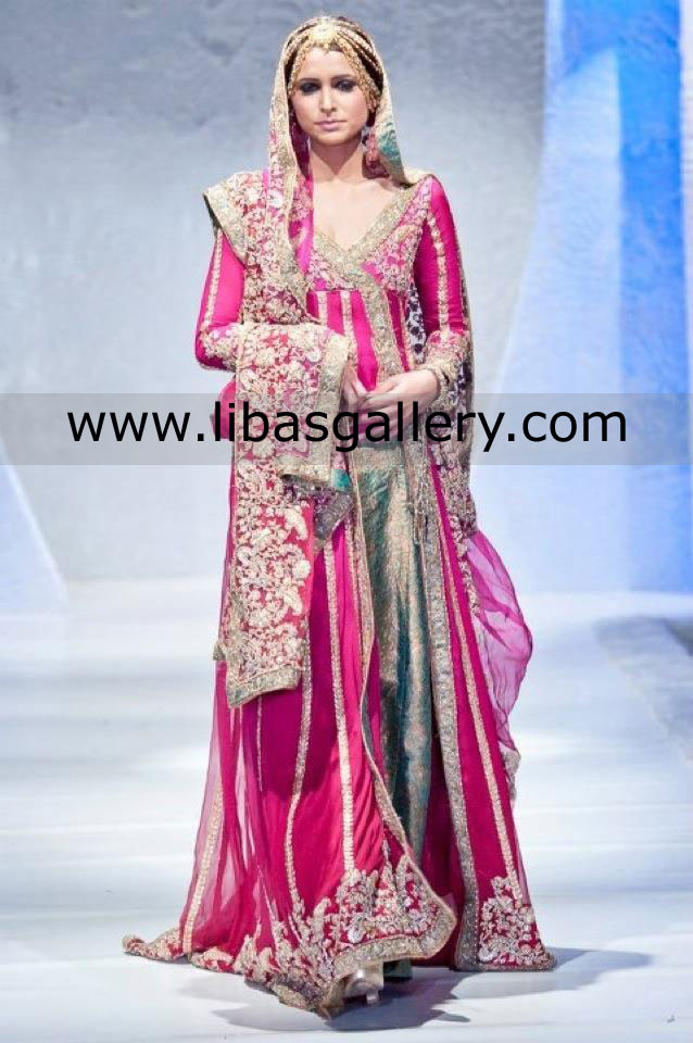 Perwani Bridal Couture Week Collection At libasgallery.Com Online Shop