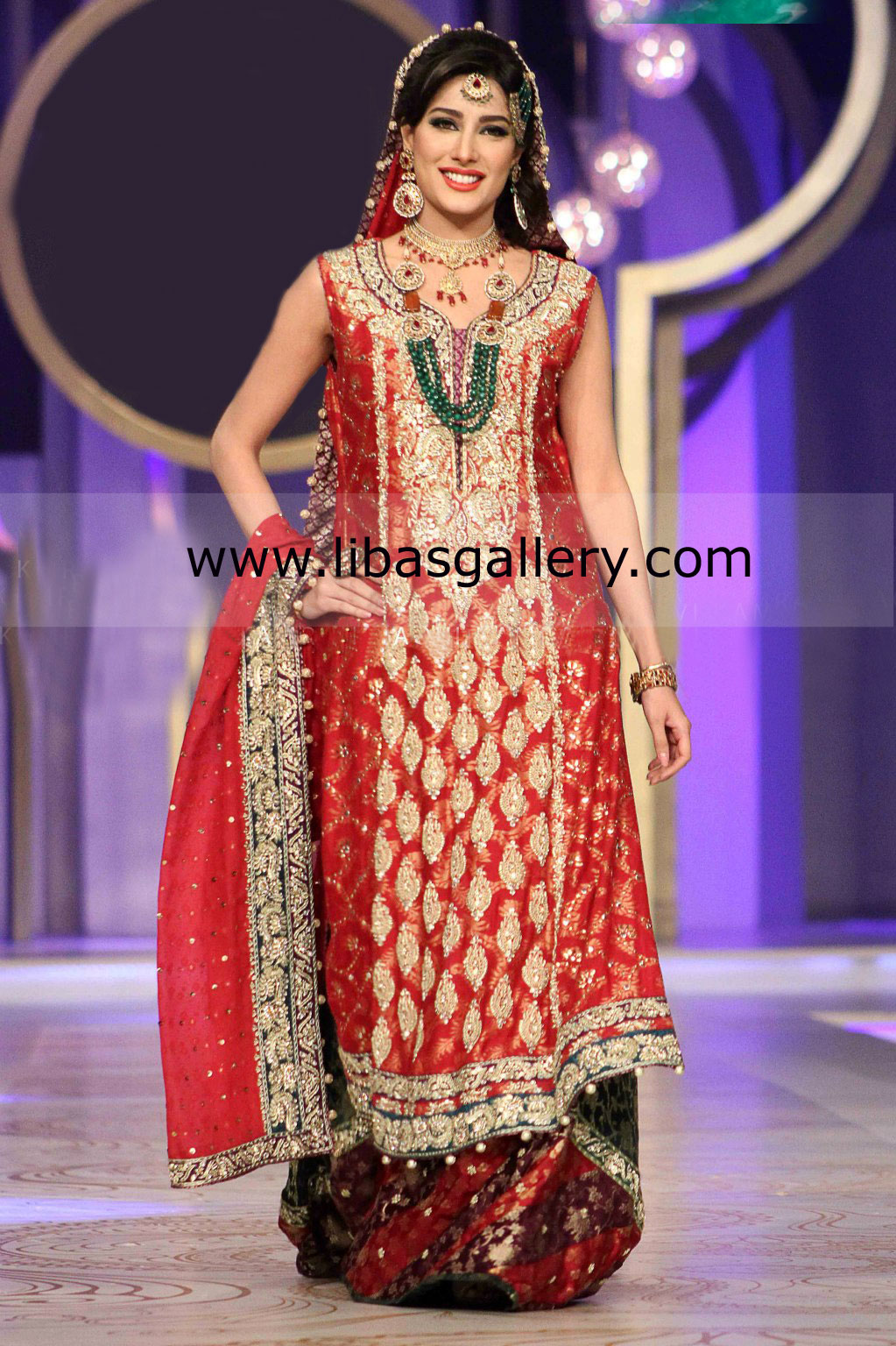 Bridal Sharara Wedding Dresses Collection 2013 by Pakistani