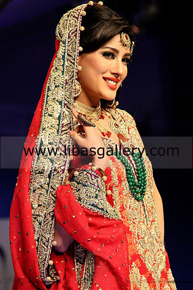 bridal sharara wedding dresses collection 2013 by pakistani designer