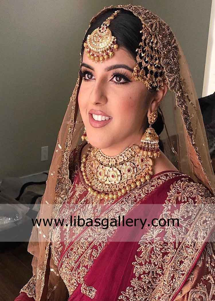 Latest Jewelry Set For Bride Silver And Gold Platted Designer