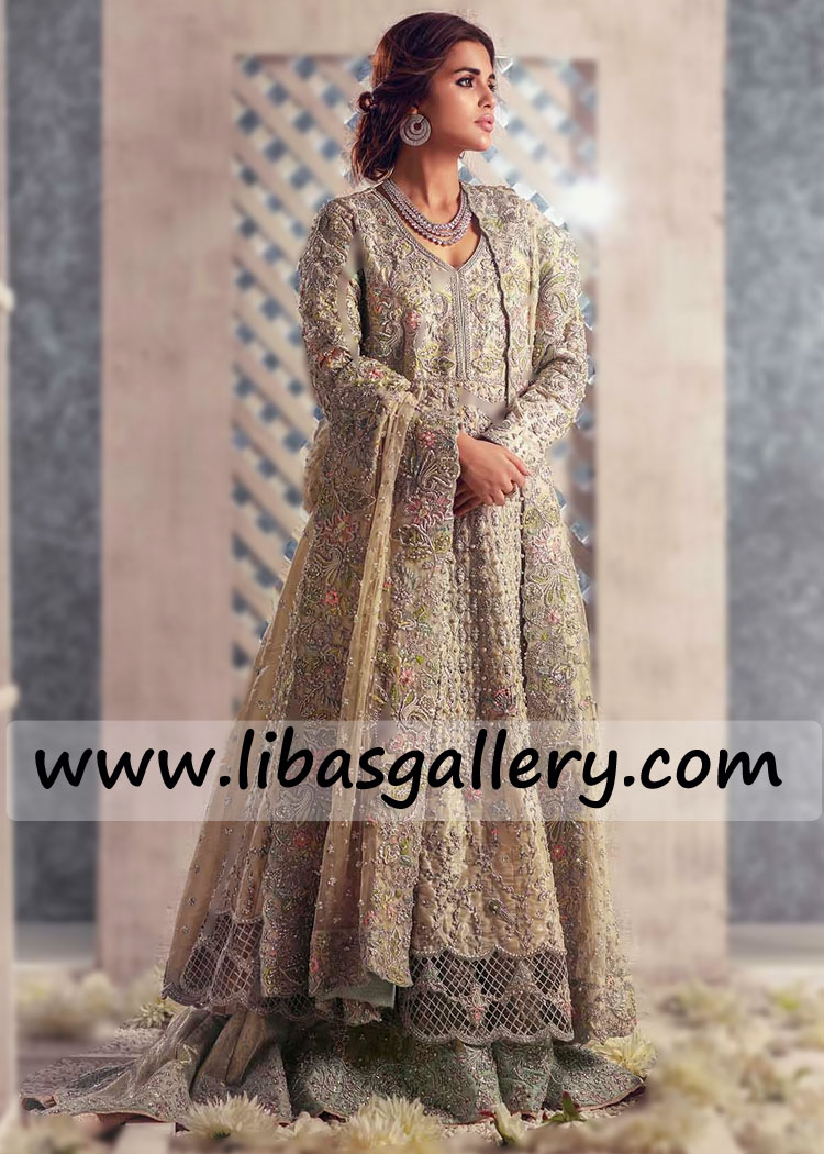 Breathtaking Bridal Collection In Organza And Banarsi Jamawar Handcrafted Outfit For Nikah Barat Walima Time Order For Summer Winter Wedding Asia Europe America,A Line Mermaid Wedding Dress
