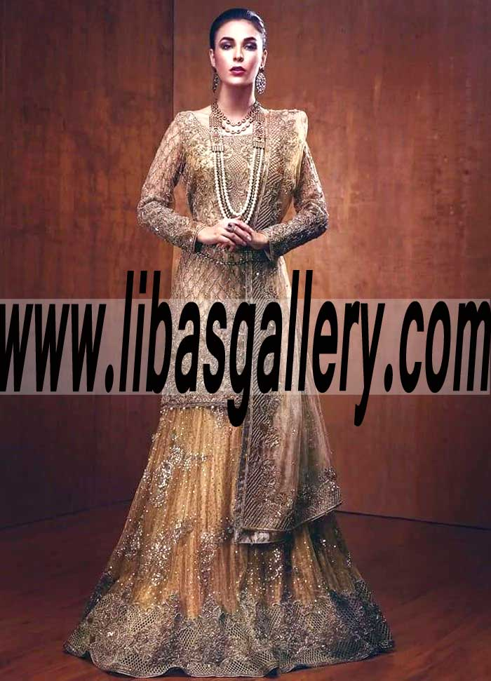 49266e1138 Elegant Latest fashion Wedding Sharara Dress for Reception and Special  Occasions
