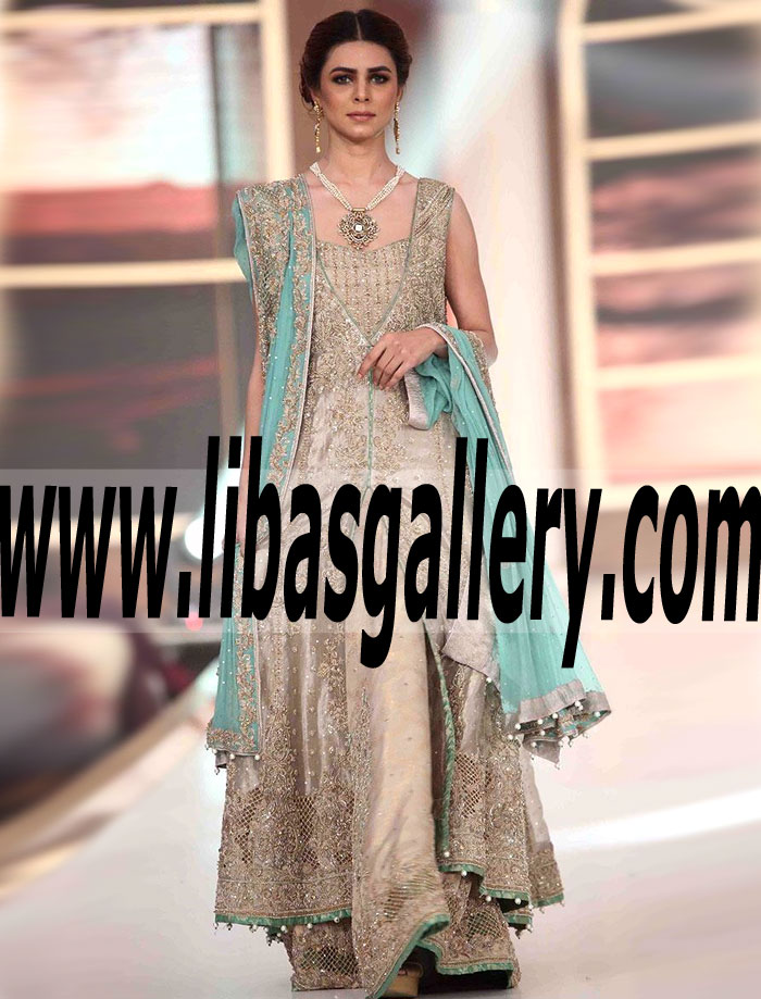 de861278274 Exquisite Pakistani Designer Wedding GOWN Dress for Newly Wed Bride