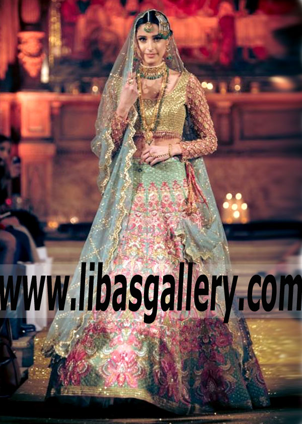 62f23d160b Sensational Pakistani Designer Bridal Lehenga Dress for Walima and Special  Occasions