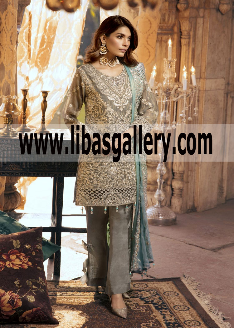 Chiffon Luxury Collection 2019 3 Pc Embroidered Designer