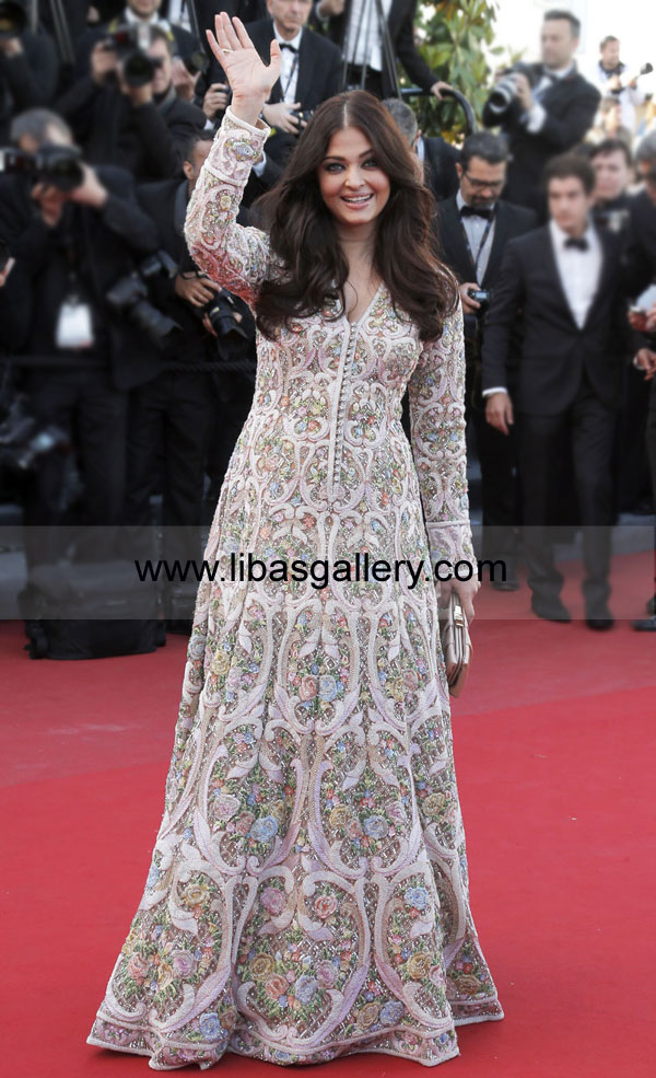 Bollywood Actress Aishwarya Rai Bachchan Long Anarkali Gowns Dresses ...