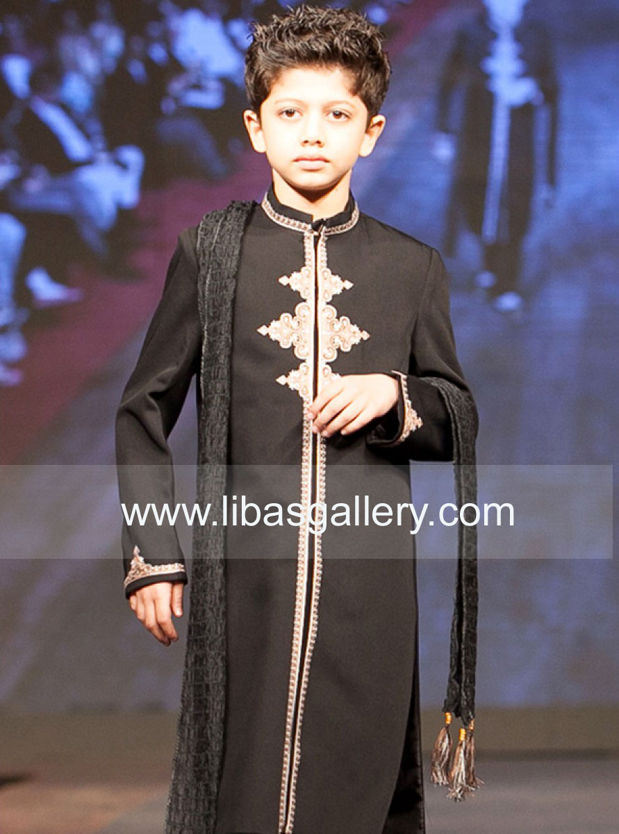 Designer Light Embroidered Sherwanis Clothing 2014 For Kids New Embroidered Sherwani Designs 2014 Pictures With Prices For Kids Online Store Aberdeenshire Uk