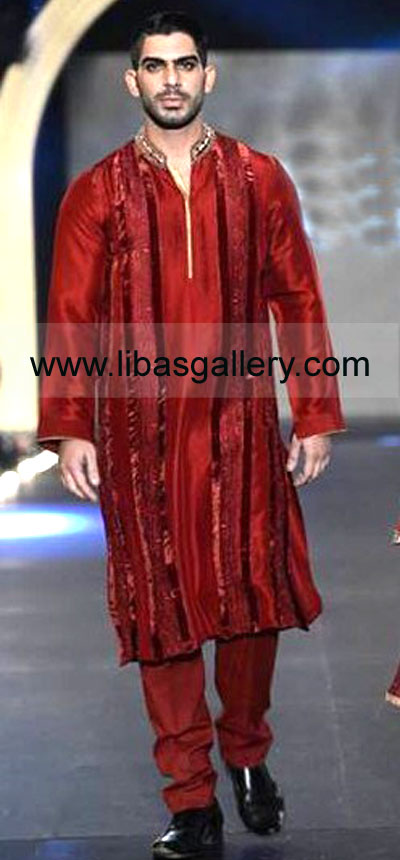 Asifa & Nabeel Embroidered Mens Sherwani Collection 2014 at
