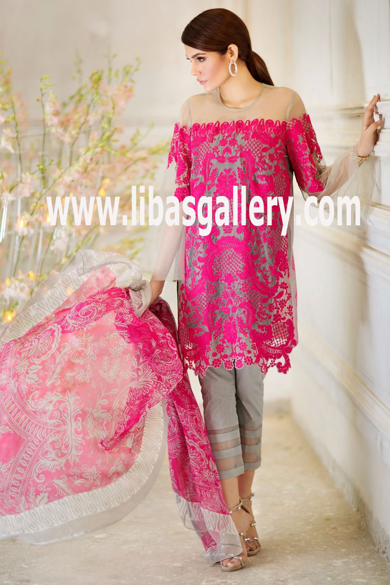 Shirt design lawn - Sana Safinaz Lawn Design Catalog Comes Out For Spring Summer Season 2017 Volume 1 3 Pc Suits With Embroidery On Shirt