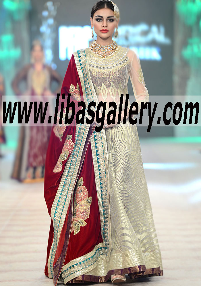Bridal Anarkali Collection 2015 By Top Most Famous Pakistani Designer Akif Mahmood Bridal Designs Bridal Dresses Wedding Gowns Beautiful Designer Wedding Dresses Shop Online In The Miracle Mile Los Angeles California