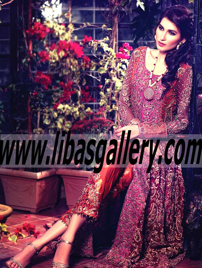 Luxurious Chiffon paneled Anarkali Dress for Wedding and Special Occasions b4f8ff5ac