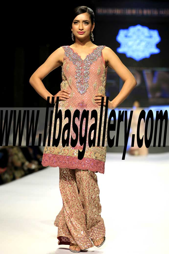 Dazzling Pakistani Designer Party Dress For Wedding Functions