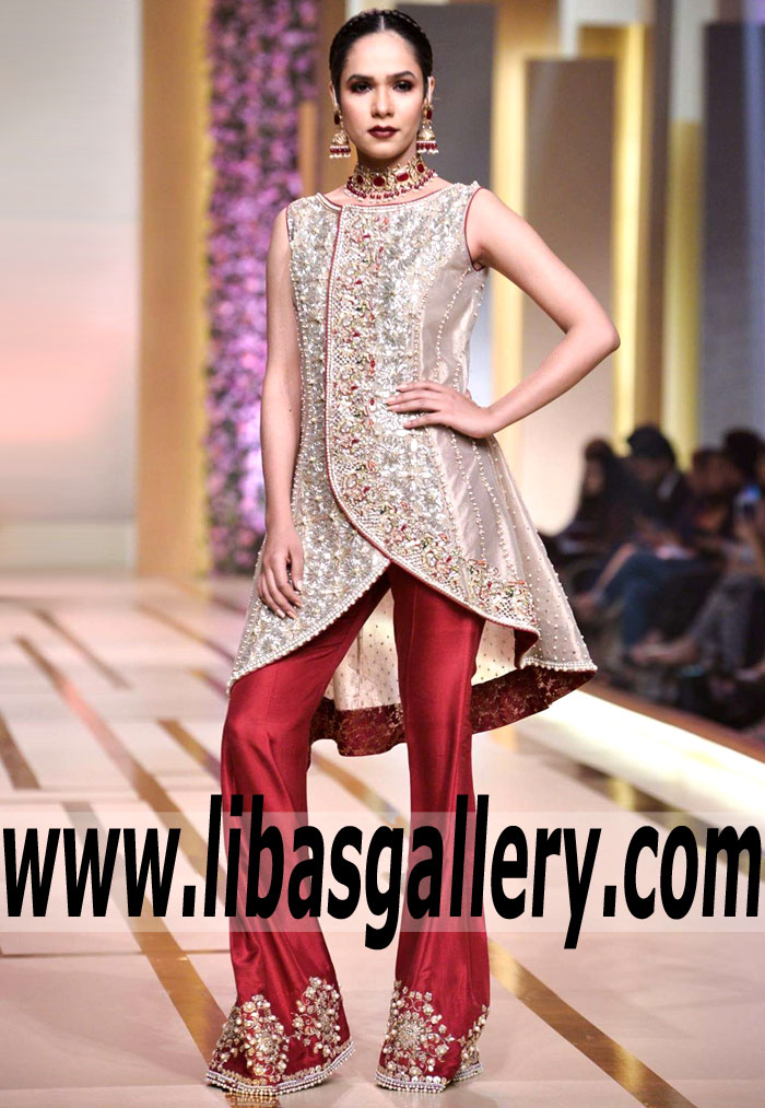 0e21a9f889 Pakistani Designer Asifa & Nabeel Wedding Guest Dresses Indian QHBCW ...