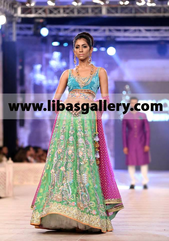 Nomi Ansari Designer Bridal Dress with Lehenga Nomi Ansari stunning ...