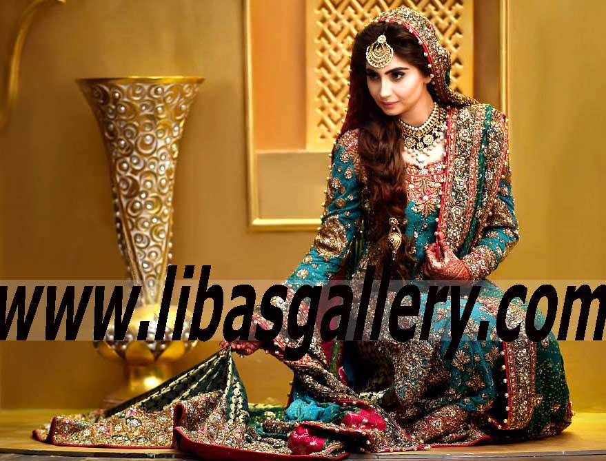 Mehndi Wedding Dresses 2016 : Bunto kazmi latest bridal mehndi dresses collection 2015 2016 online