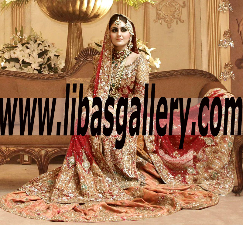96f800cb5b Royal Look Embellished Bridal Wear Lehenga Dress for Wedding and Special  Occasion