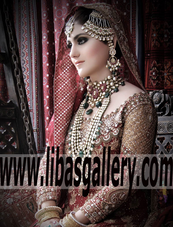 be5d5d7d43 ... Royal Look Embellished Bridal Wear Lehenga Dress for Wedding and Special  Occasion