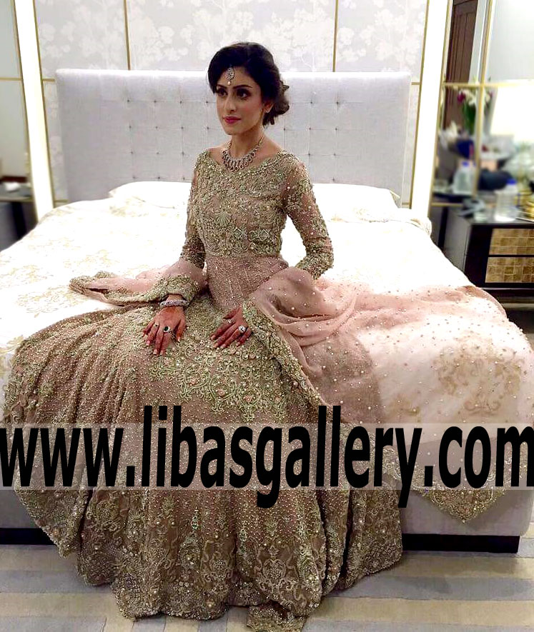 2112eb852a1 Admirable Bridal Gown Dress with Marvelous Embellishments for Valima and Special  Occasions