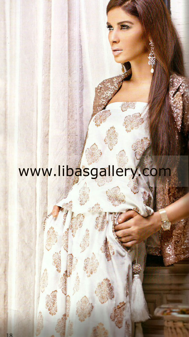 0b71c8ec02 Evening Jumpsuits Dresses for Eid 2013 by Pakistani Designer Nida ...