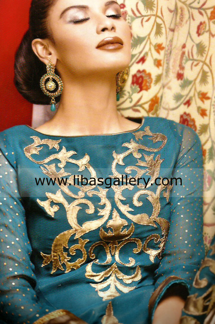 Designer Sana Safinaz Traditional Pakistani Indian Party Wear Salwar Kameez Clothing Shops in Norfolk, Richmond - party109b