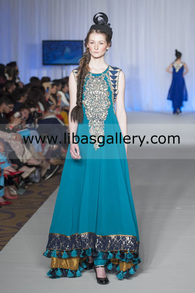 Flared Anarkali Pishwas, Pakistani Long Frock Styles, Pakistani ...