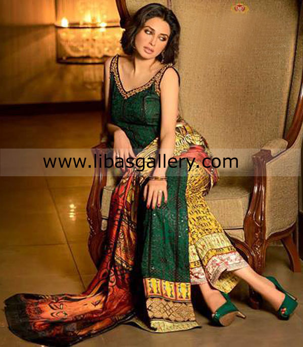 Latest Pakistani Party Wear Dresses 2014  2015