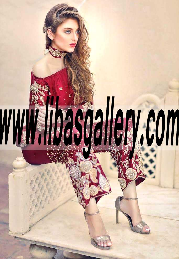 885156a1f3ae4 Latest Pakistani Designer Whimsical Party wear for Social and Formal Events