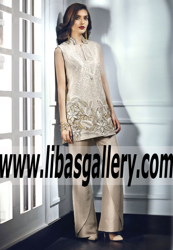 3f0940964d WHISPER GREY Designer Pakistani Party Dress for Party and Formal Events