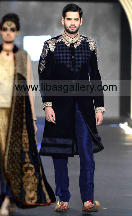 Men Sherwani Suits Designer Sherwanis Stani Groom Wedding Dresses By Asifa Nabeel Collection At