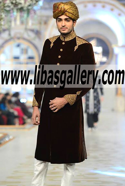 110149adef Designer Humayun Alamgir Bespoke Sherwani for Men | Tailor Made ...