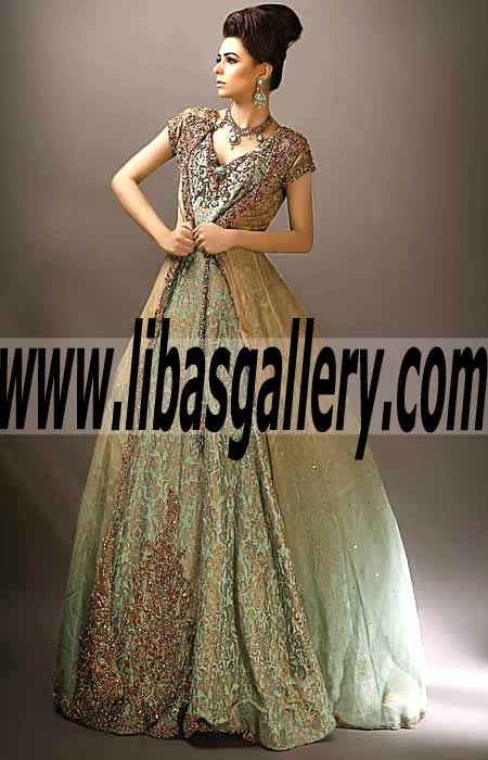 afc33f023 Glowing Long Flared Gown with Awesome and Sweet Embellishments for Special  Occasions