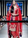 Red Muslim Bridal Lehenga Lehnga,Style 360 Fashion Shows,Paris Fashion Show,Pakistani Dresses Fashion Shows