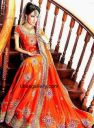 oranga bridal collection,pakistani indian orange bridal lahenga,designer orange lahenga UK USA Canada