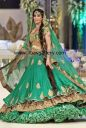 Green Bridal Dresses Pakistan,Green Bridal Outfits Pakistan,Green Bridals India Pakistan Bridal Wear