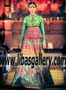 Designer Nomi Ansari Peplum Bridal Wear Designer Wedding Lenghas | Fashion Parade London | shop in Abu Dhabi UAE
