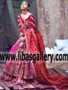 Pakistani Bridal Lehenga San Francisco CA USA Zarmisha Dar Angrakha Bridal Collection Shop for Bridal Wear