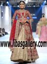 Glorious Zara Shahjahan BRIDAL Dresses PFDC Loreal Bridal Week 2016-2017 | Free Northridge California CA USA Delivery on Luxurious GOWN Dresses New Arrivals | www.libasgallery.com