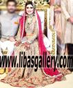 Faraz Manan Pakistani Bridal Lengha Georgetown Texas TX USA Designer Faraz Manan Wedding Lengha Traditional Bridal Sharara for Wedding and Special Occasions USA