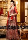 RED Bridal Wear RED Pakistani Bridal Dresses RED Designer Bridal Dress Lehenga with Price Traditional Red in Manitoba Canada