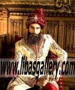 Royal Prince Sherwani 2016 2017 with Turban and King Shoes Complete Royal Feeling and look for Wedding Day Toronto Canada