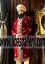 Branded heavy embroidered sherwani with turban and matching embroidered mughal shoes San Antonio Texas United States USA