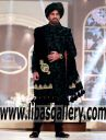 Black Sherwani Suit for Fair Color Groom QHBCW 2017 Sherwani Collection Pakistan Karachi Lahore islamabad Online Shop for Men Wedding Dulha